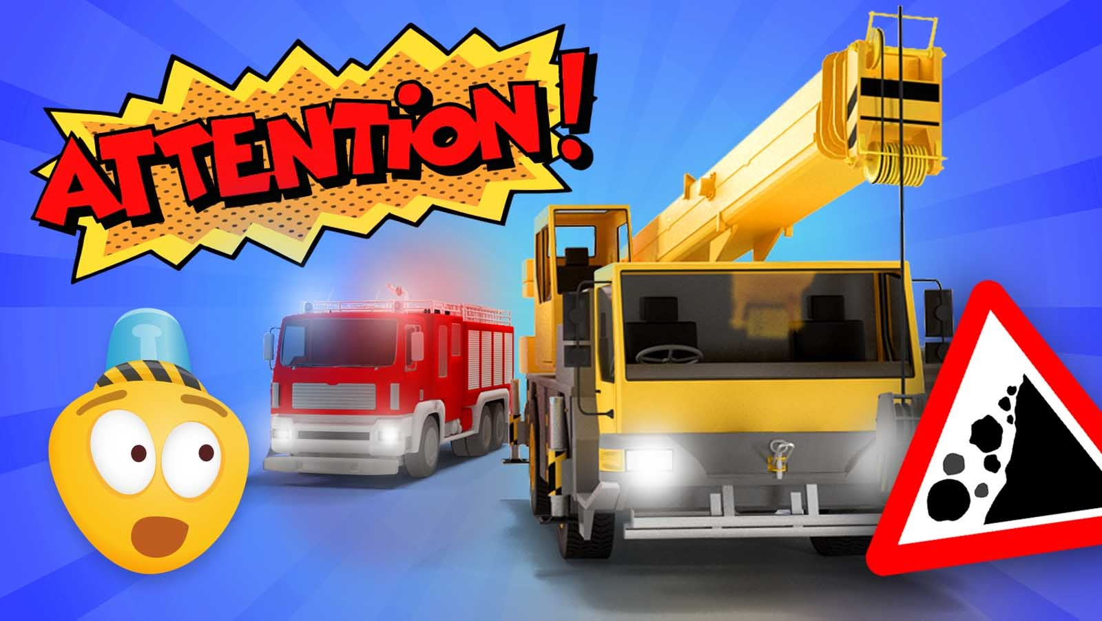 Fire Brigade & Construction Vehicles! Cartoon For Kids About Fire ...