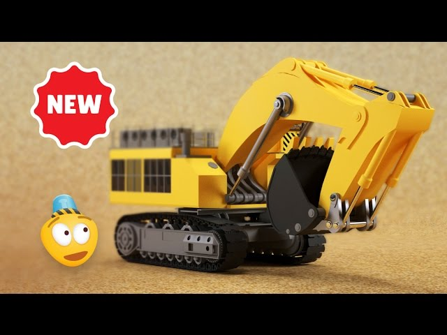 kid s 3d construction cartoon mining excavator i learning