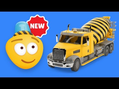 kid s 3d construction cartoon concrete mixer truck i learning